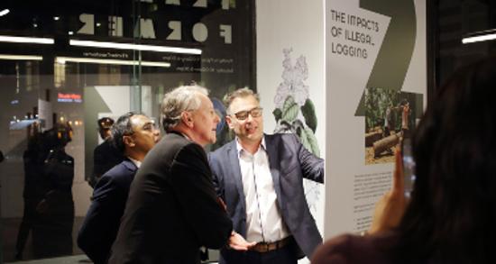 David Hopkins Hillary Benn Timber Transformer launch
