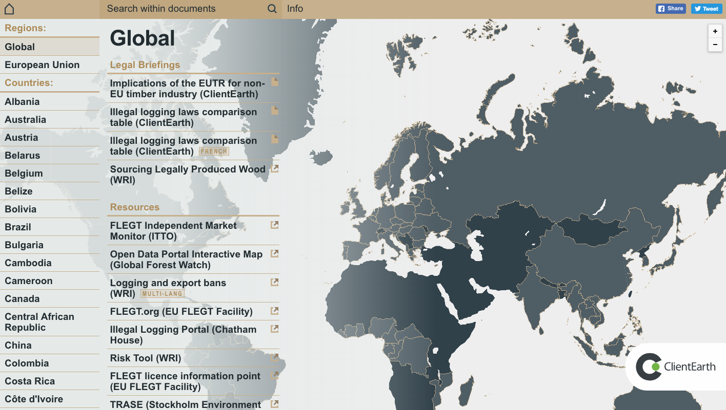 Client Earth Logbook Global Page