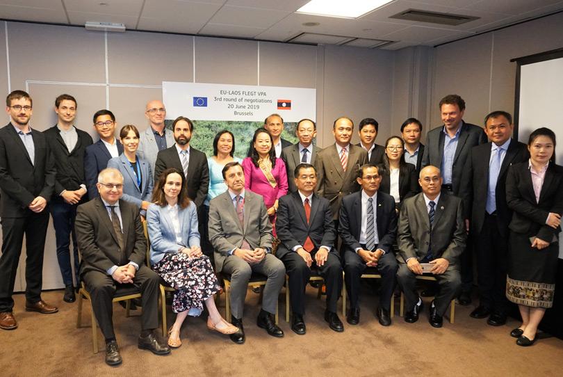 EU Laos third formal negotiation VPA FLEGT