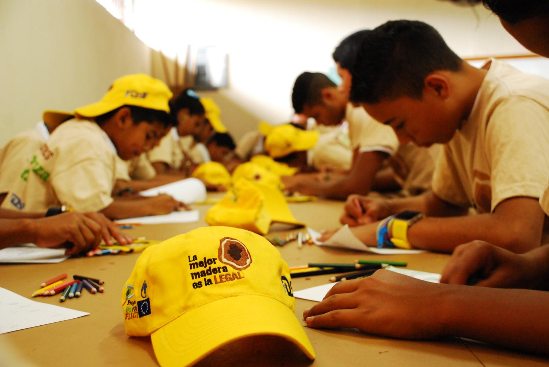 Honduras FLEGT school event Democracy without Borders Foundation Honduras