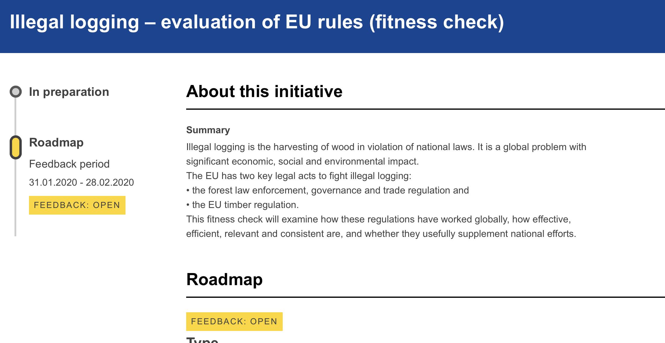 EU invites feedback on EUTR and FLEGT Regulations