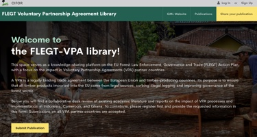 Interactive FLEGT VPA impact library launched by CIFOR