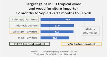 FLEGT licensed products biggest winners in EU tropical wood market