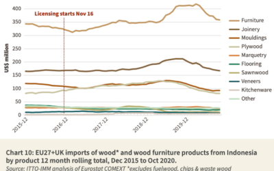 Indonesia's exports of forest and wood products better than expected in 2020